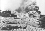 Dieppe beach after the attack